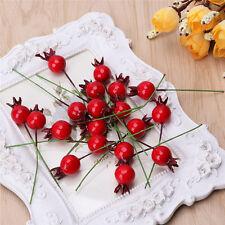 20Pcs Mini Artificial Fruit  Fake Pomegranate Wedding Christmas Party Decor