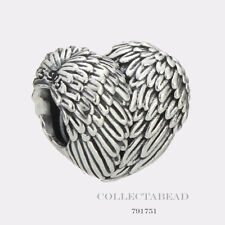 Authentic Pandora Sterling Silver Angelic Feathers Bead 791751