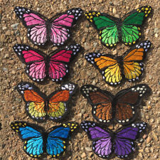 1pc Butterfly Embroidered Cloth Iron On Patch Sew Motif Applique Craft #924