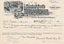 New listing U.S. Illustrated Comstock Castle Stove Co. Quincy. 1901 Manfs. Invoice Ref 43568