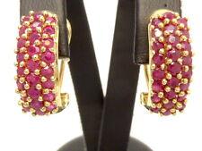 Ohrringe earrings 585 GOLD boucle d'oreille en or 14 Karat 14kt Rubin ruby oro