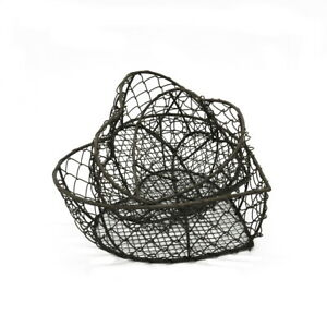 Heart Shaped Metal Wire Nesting Baskets Vintage Style Storage Baskets ,Set of 3