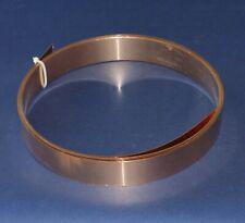 Bronzeblech CuSn6 Bronze Blech Band 42 mm Breite x 0,6 mm Dicke, ca. 5m lang