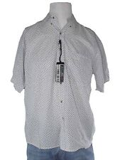 mondial camicia uomo bianco pallini manica corta taglia l large