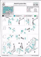 EDUARD 24202 SEAT BELT SABELT 6 POINTS BLUE 1/24 SCALE N/ MFH TAMIYA PROTAR