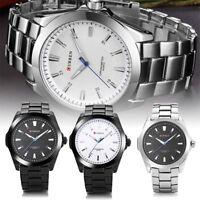 CURREN Business Men Casual Alloy Strap Watch Waterproof Analog Quartz Wristwatch