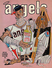 1971  LOS ANGELES ANGELS vs  OAKLAND A'S   Baseball Program