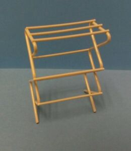 Dollhouse Miniature Cloths Drying Rack, laundry or sewing room metal 1:12 scale
