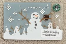 Starbucks 2010 Christmas Snowman With Mug Card