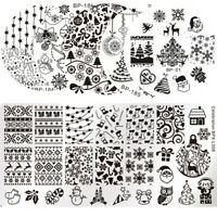 Nail Art Stamping Plates Christmas Manicure Image Templates Stencil Born Pretty