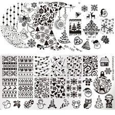 Nail Art Stamping Plates Christmas  Image Templates Stencil Born Pretty
