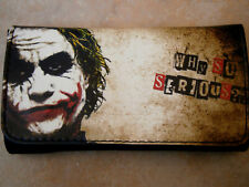 THE JOKER WHY SO SERIOUS ROLLING TOBACCO POUCH PURSE WALLET CASE MAN MOVIE BAT