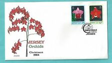 Jersey First Day Cover FDC 1984 Christmas Orchids Noel Weihnachten Flowers Flora