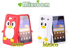 COVER CASE CUSTODIA PINGUINO SAMSUNG GALAXY S ADVANCE i9070 SILICONE MORBIDO