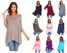 3 Pack Women's 3/4 Sleeve Loose Fit Flare Swing T Shirt Tunic Top Blouse S-3X
