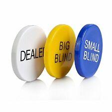 Smartdealspro 3pcs Small Blind Big Blind and Dealer Poker Buttons