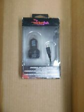 Universal GPS car charger with 2 USB ports by Rocketfish retail box