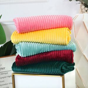 Flannel Blankets for Beds Blankets King Size Set Solid Striped Throws Bedspread