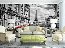 The Street-Eiffel Tower Wall Mural Photo Wallpaper GIANT WALL DECOR Paper Poster