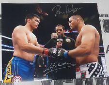 Dan Henderson & Lyoto Machida Signed UFC 157 16x20 Photo PSA/DNA COA Autograph