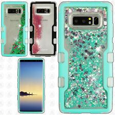 Samsung Galaxy Note 8 Quicksand TUFF HYBRID Protector Skin Cover +Screen Guard