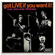 THE ROLLING STONES GOT LIVE IF YOU WANT IT! 7/45 EP PORTUGAL PS 1965 PROMO RARE