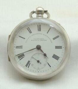 T.Fattorini Antique Silver Case Open Face Gentleman's Pocket Watch.