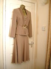 10 VENI INFANTINO SUIT TOP SKIRT AND JACKET SMART NEW WEDDING PARTY SUMMER MOTB