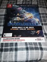 R Type Final 2 Gamestop Exclusive Promo Poster
