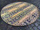 Circle Patchwork Carpet, Turkish rug, Vintage rug, Area rug | 5,2 ft