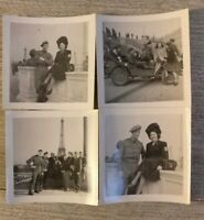 4 Photos anciennes WW2 libération de Paris tirage argentique d'époque Août 1944.