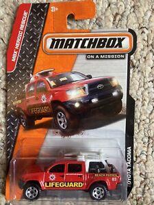 Matchbox Toyota Tacoma Lifeguard Pickup 2014 Red Very Rare 1:64 Diorama