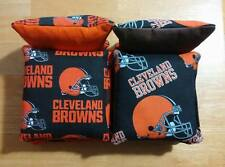 Cleveland Browns Cornhole Bags Set of 8 ~FREE SHIP!! ~Baggo Corn hole NFL Fabric