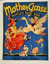Vintage Mother Goose Paintless Paint Book, 1941 Whitman Pub. Paint W/ Water!