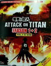 DVD ATTACK ON TITAN SEASON 1-2 Episode 1-37 End + 6 SPECIALS + Tracking Shipping