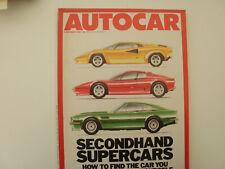Autocar 1987.Aston Vantage.Ferrari Boxer.Lambo Countach.BMW 318i.L/R 110 V8 Cou'