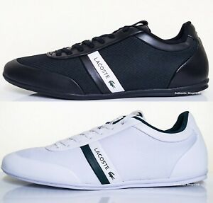 New Lacoste Storda 0721 1 Men's Casual Loafer Shoes Sneakers Black White