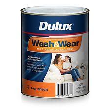 DULUX 1 LITRE WASH/WEAR LOW/SHEEN  INTERIOR FACTORY VIVID-WHITE colour paint