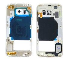 Original Samsung Galaxy S6 Mittelgehäuse Middle-Cover Frame Rahmen Weiß