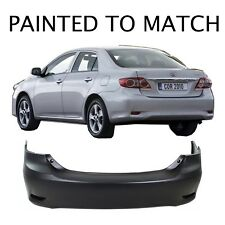 Painted to Match - 2011 2012 2013 Toyota Corolla Base Rear Bumper