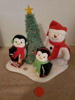 2006 Hallmark Jingle Pals Animated Musical Trio Snowman Penguins Christmas Tree
