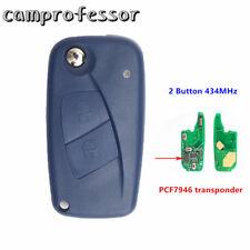 New Flip Remote Key Fob 2Button 434MHz PCF7946 for FIAT Punto Ducato Stilo Panda