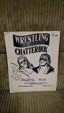 SHAWN MICHAELS SIGNED WRESTLING CHATTERBOX NEWSLETTER NOVEMBER 1992 WWE