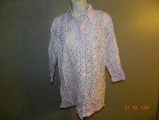 Women's M Blair Pink Eyelet Top/Blouse....!00% Cotton..Cool! NWOT
