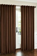 New Canopy Faux Silk Lined Drapery Curtain Panel 54x95, Rich Brown