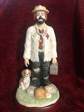 Emmett Kelly Jr. clown figurin ,The Veterinarian,signed