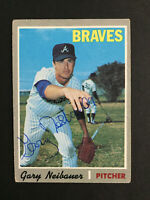 Gary Neibauer Braves signed 1970 Topps baseball card #384 Auto Autograph 2