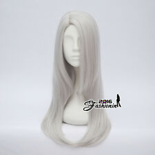 Long Silver Gray 60CM Wavy Anime For YURI!on ICE Cosplay Viktor Nikiforov Wig