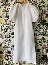 Jil Sander White Poplin Dress rrp £890 - Size 8 SS19 Luke Lucy Meier