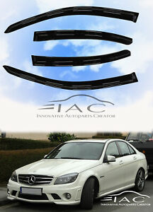 For Mercedes Benz W204 08-14 C-Class Window Visor Vent Shade Rain Guard Visor